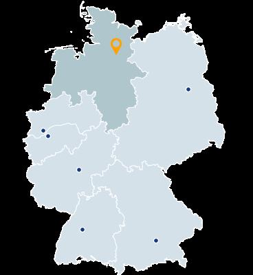 Niedersachsen, Schleswig-Holstein, Bremen, Hamburg