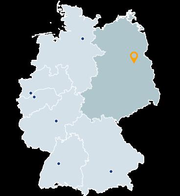 Mecklenburg-Vorpommern, Brandenburg, Berlin, Thüringen, Sachsen, Sachsen-Anhalt