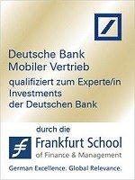 Zertifikat qualifiziert zum Experten Investments der Deutschen Bank